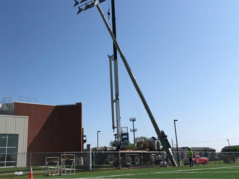 University of Jamestown Practice Field Lighting_MEI Crew (4)